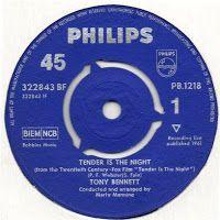 """Nosso disco de hoje é da música de um filme americano feito em 1961 (e lançado no ano seguinte) intitulado """"Suave é a Noite"""" (""""Tender is the Night""""), que fez grande sucesso nos cinemas (inclusive daqui, quando passou em setembro de 1962)."""