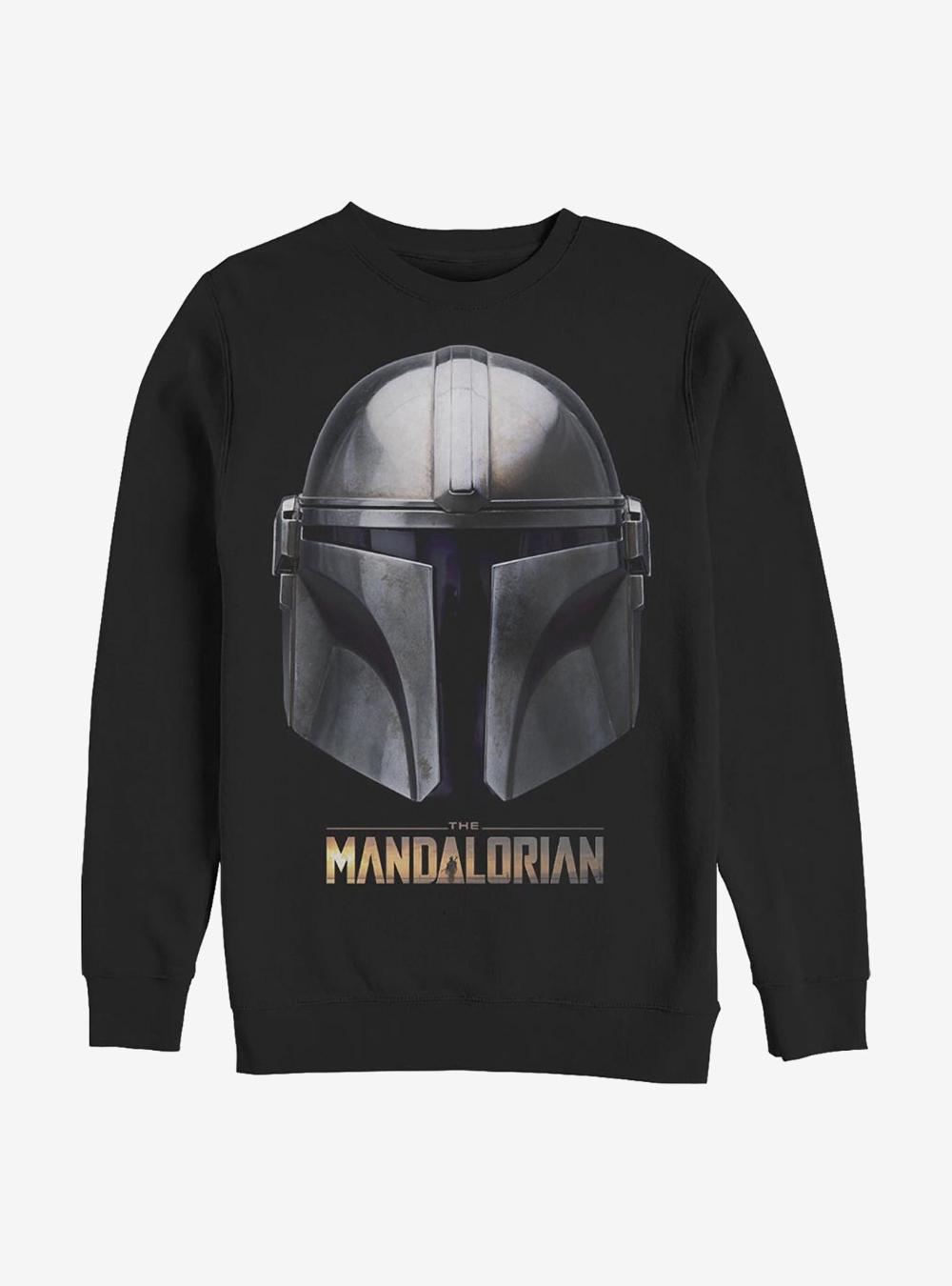 Star Wars The Mandalorian Mandalorian Helmet Crew Sweatshirt Crew Sweatshirts Mandalorian Helmet Sweatshirts [ 1350 x 1000 Pixel ]