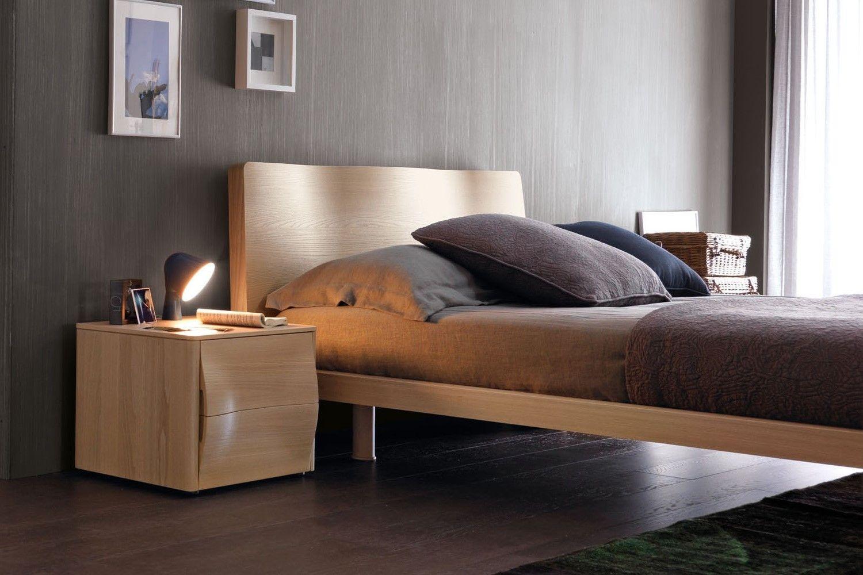 Camera da letto matrimoniale in legno 201 letto sara con comodini vera napol - Letto matrimoniale in legno ...