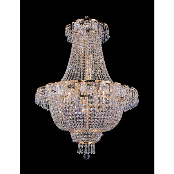 This Empire Chandelier is characteristic of the grand chandeliers which decorated the finest chateaux and palaces across Europe and reflects a time of class and elegance. This item also works with ene
