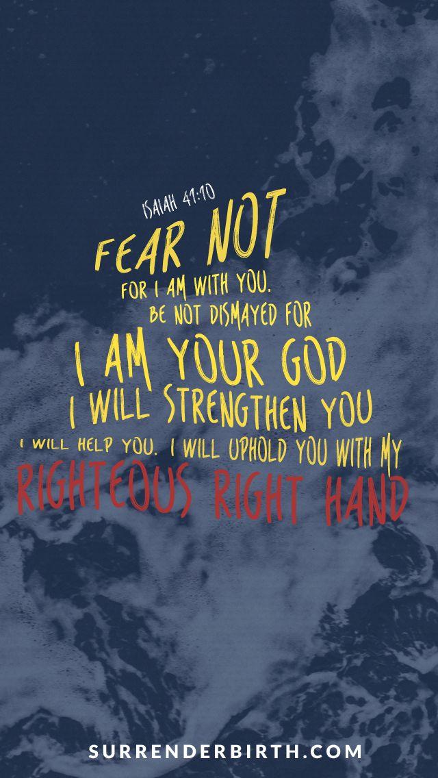 Isaiah 4110 Free Iphone Wallpaper Verse Memorization Isaiah 41