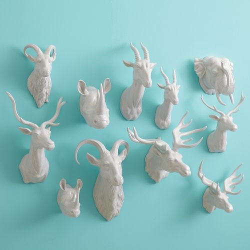 Pin By Sarah W On The Macabre Animal Wall Mount Ceramic Animals Animal Head Decor
