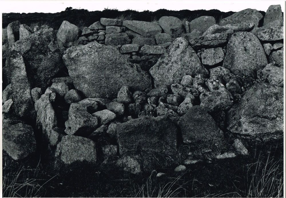 """Irish Megalith,"" Original photograph by Paul Caponigro, with test print 1967.  Listed on Biblio by Caliban Books ABAA-ILAB"