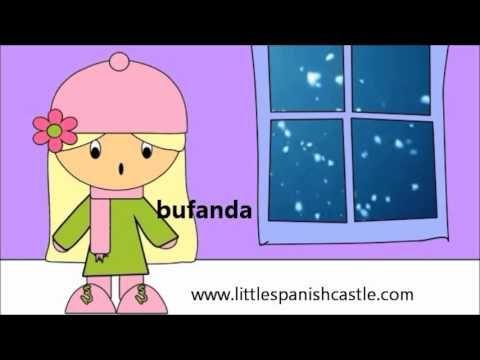 Winter Vocabulary in Spanish / Spanish Vocabulary Invierno K La