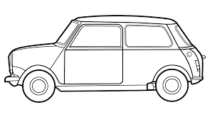 Image result for classic mini line drawing (avec images