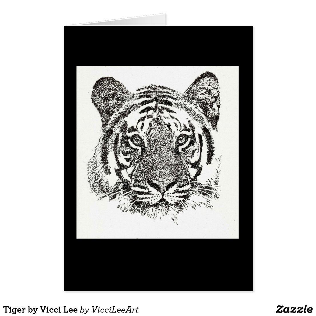 Tiger by Vicci Lee Zazzle.co.uk in 2019 Illustration