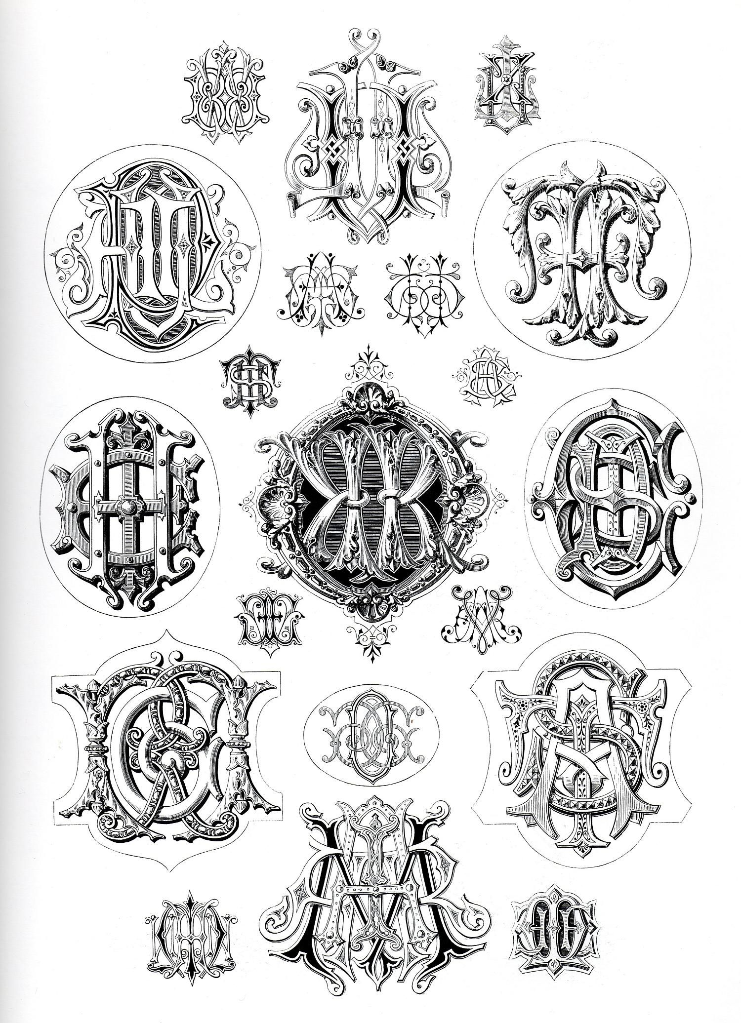 love old vintage monograms and typograpy...could just do a