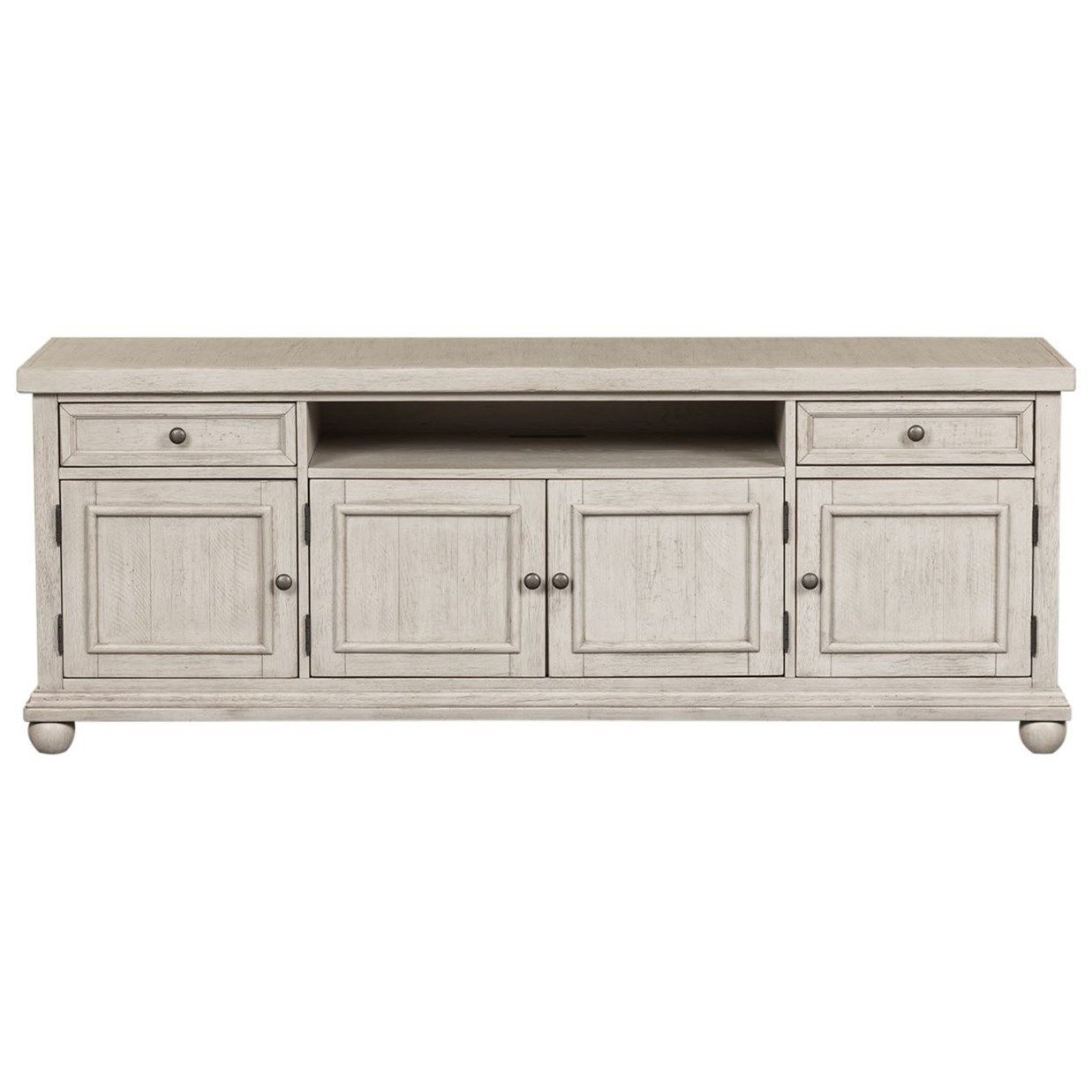 Harvest Home Relaxed Vintage 75 TV Console by Freedom Furniture at Ruby Gordon Home