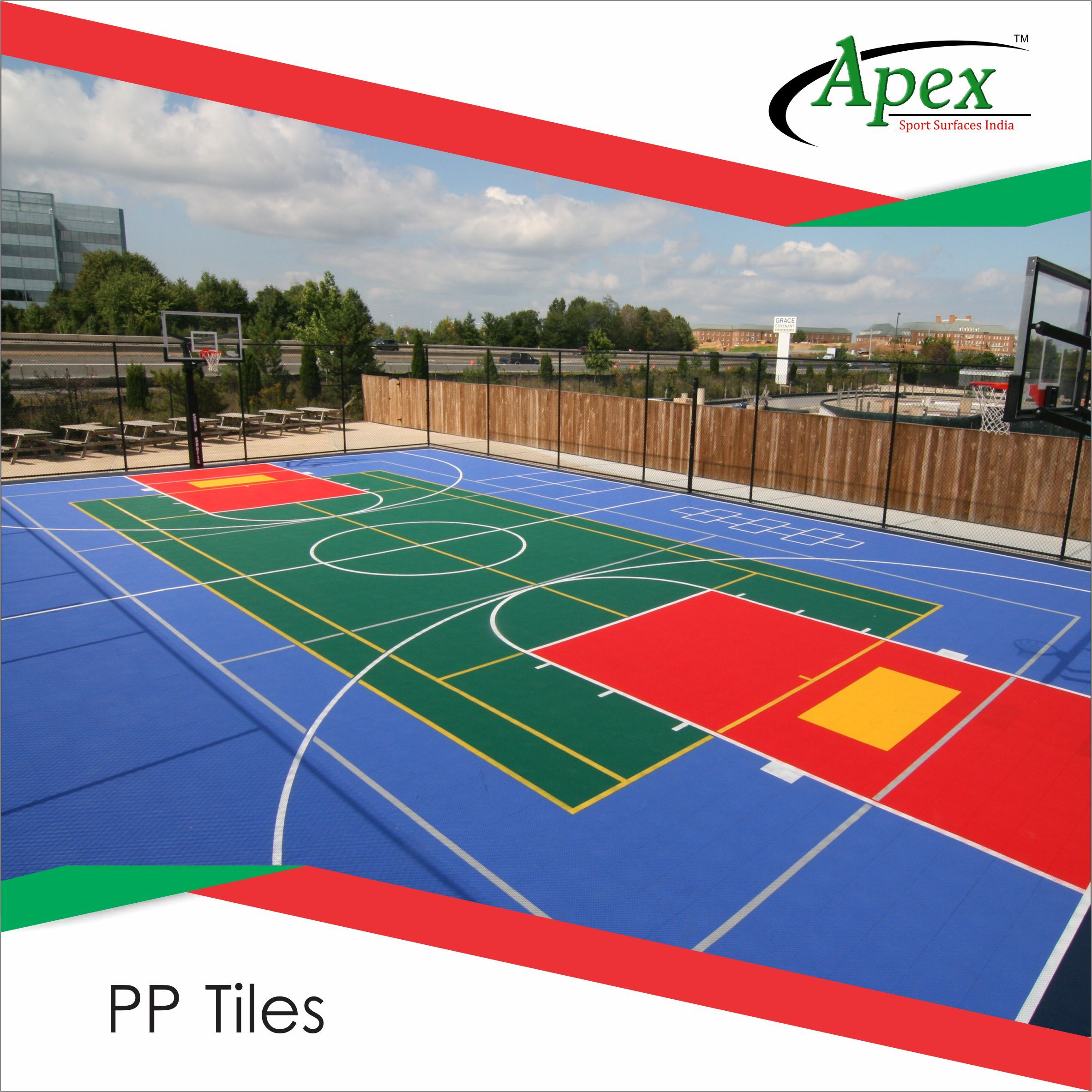 Pp Tiles From Apex Sports Clear Visible Line Markings Very Easy To Clean With A Strong Wear And Tear Resistance Apexs Sports Fun Sports Outdoor Inspirations