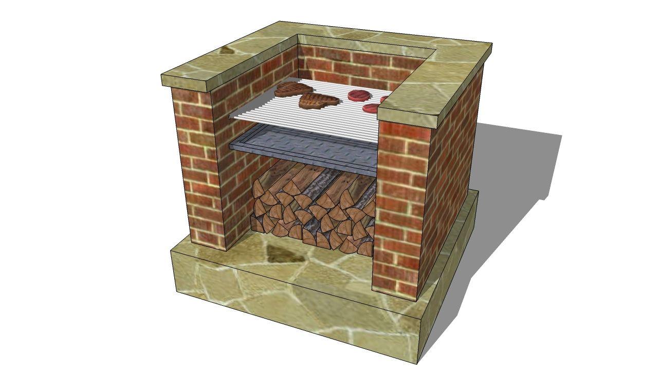 Free Brick bbq plans | Grill selber bauen, Outdoor grill ...