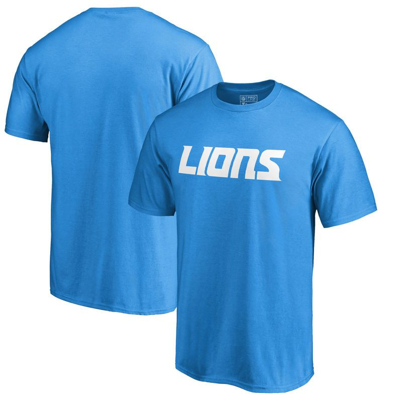 Detroit Lions NFL Pro Line by Fanatics Branded Wordmark T-Shirt - Blue