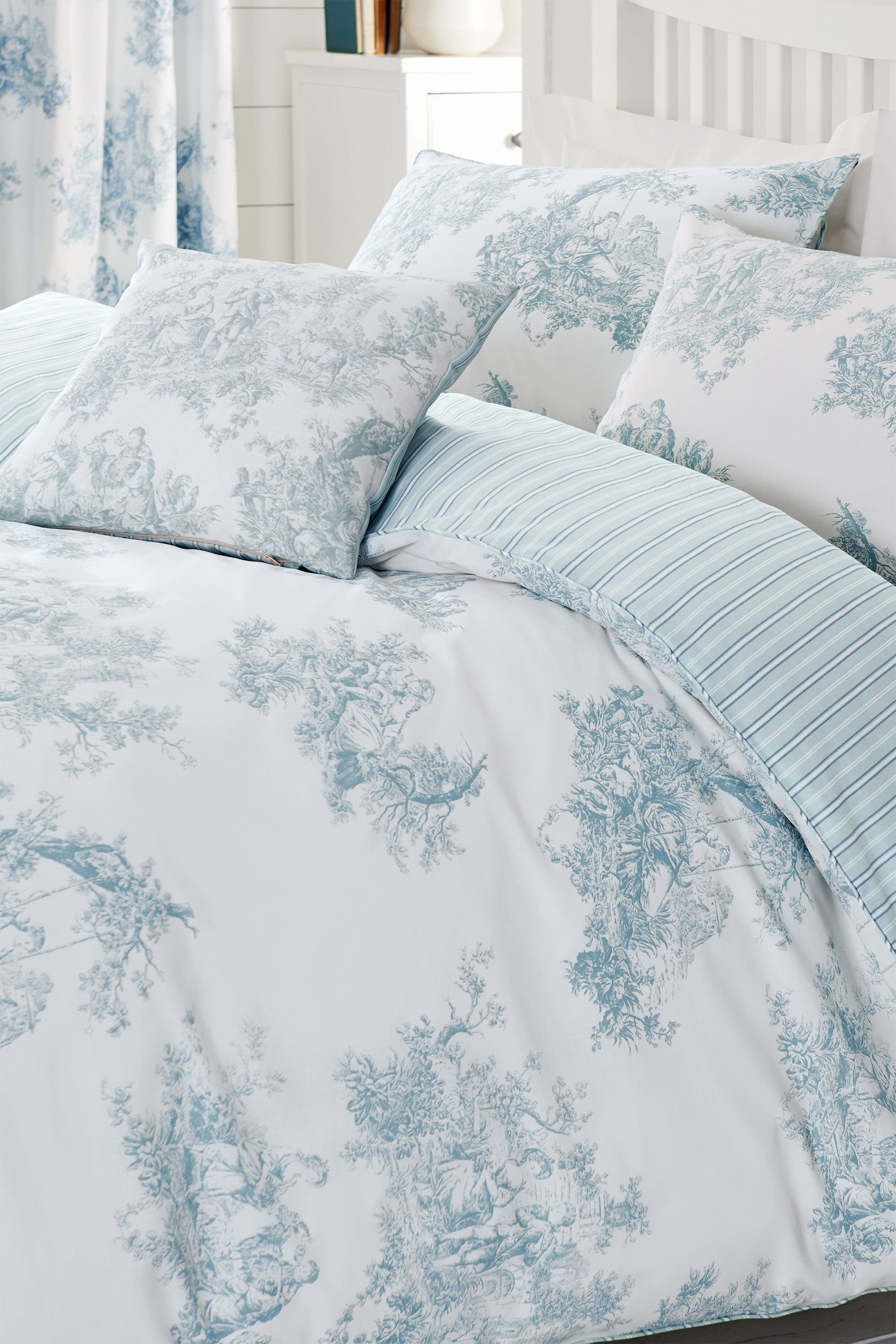 Toile Teal Print Bed Set from the Next UK online shop