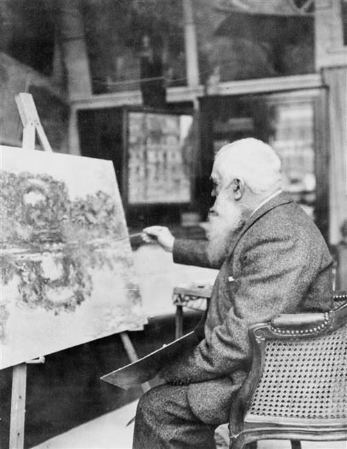 Claude monet in his studio 1920 other neat stuff for Da matisse a monet