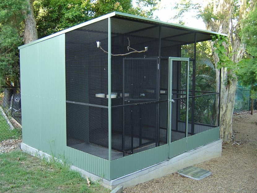 Conventional With 3 Sections Safetey And Sloped Roof Bird Aviary For Sale Aviary For Sale Bird Aviary