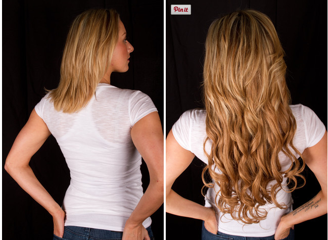 Before And After Using Bellami Hair In Dirty Blonde 18