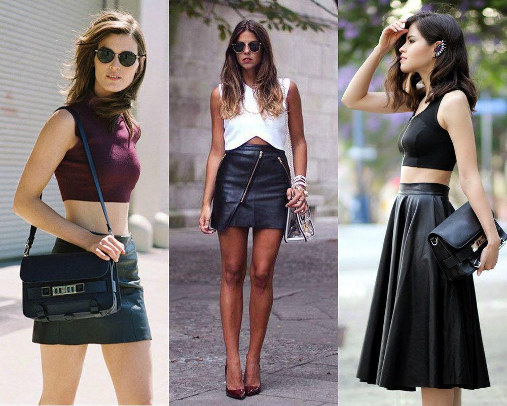 5 jeitos de usar saia de couro no verão - Moda it