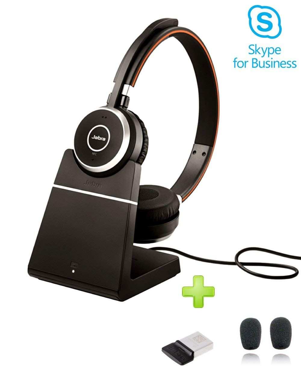 804332355e1 Amazon.com: Jabra Evolve 65 Bluetooth Stereo Headset Bundle | MS Version |  Bonus