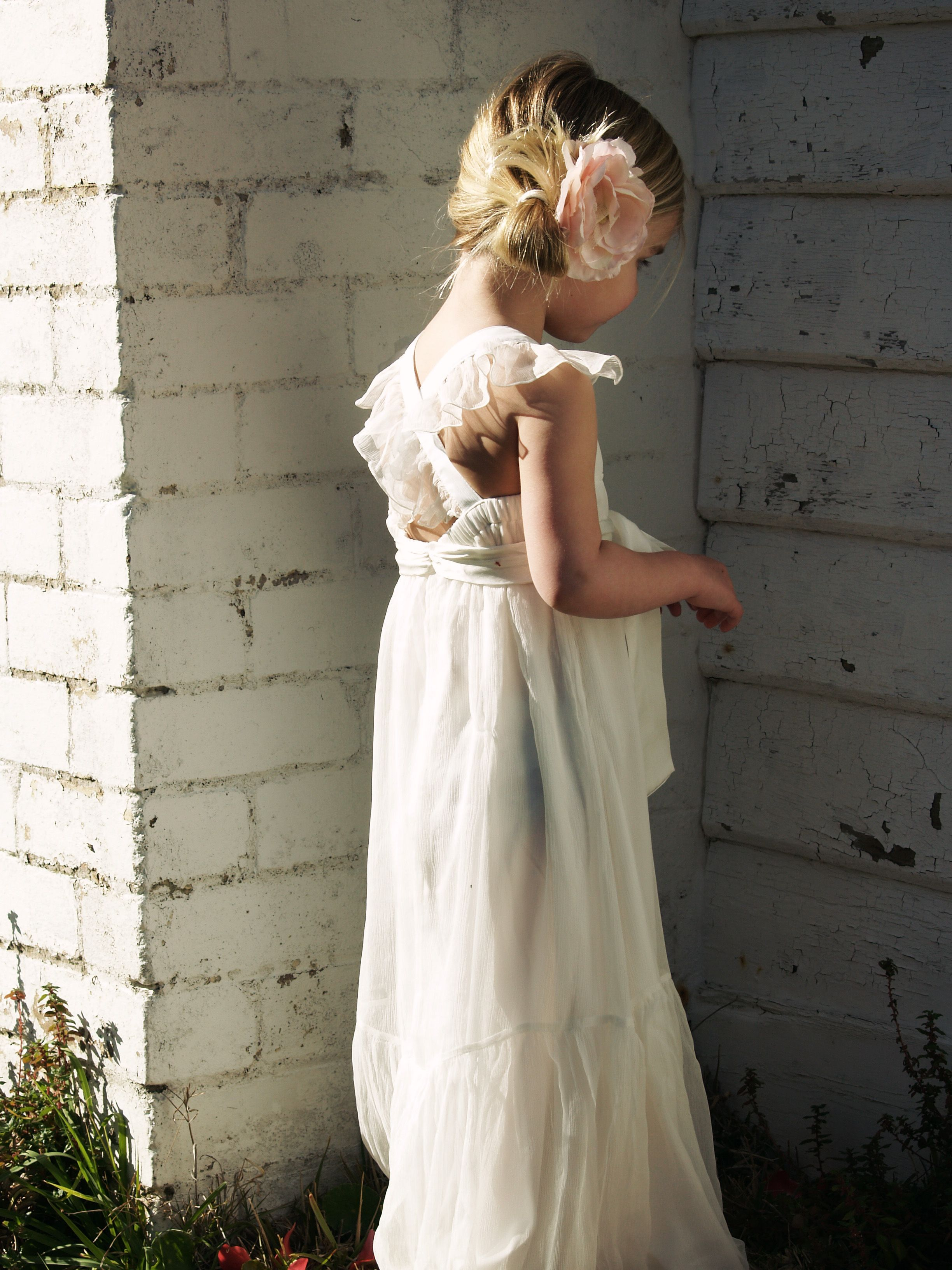 Tea Princess Flower Girl Dress