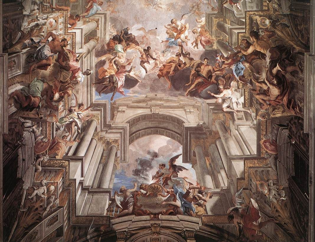Andrea Pozzo, Allegory of the Jesuits' Missionnary Work