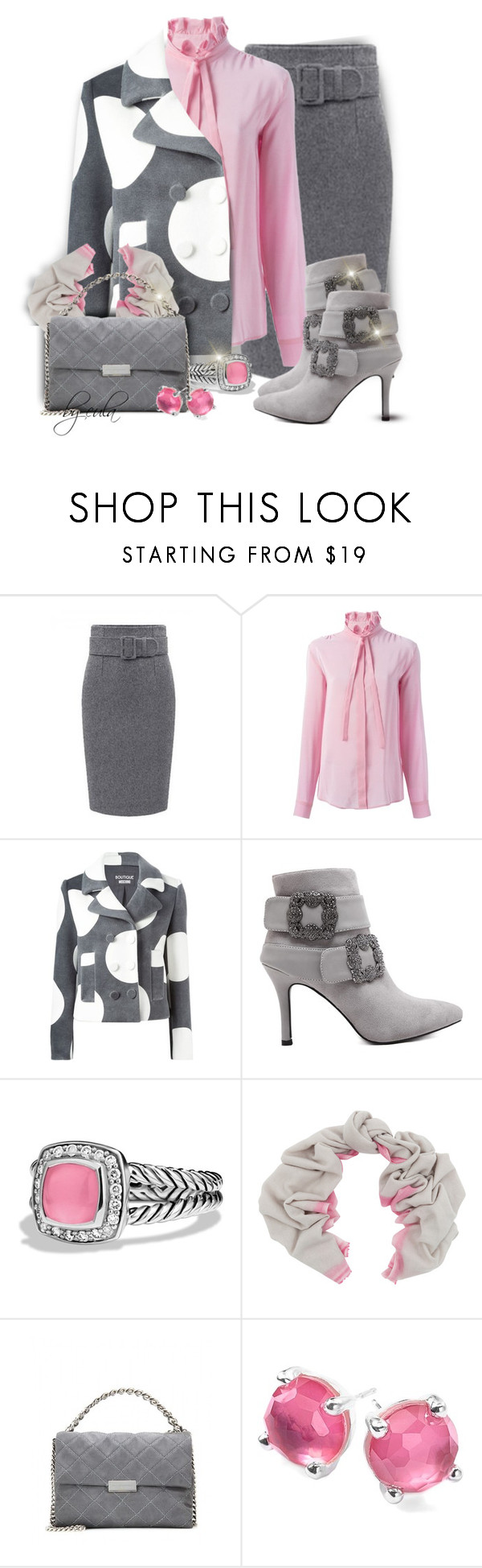 """""""Spots and Dots, Oh My!! (Outfit Only)"""" by eula-eldridge-tolliver ❤ liked on Polyvore featuring MSGM, Boutique Moschino, David Yurman, Bajra, STELLA McCARTNEY and Ippolita"""