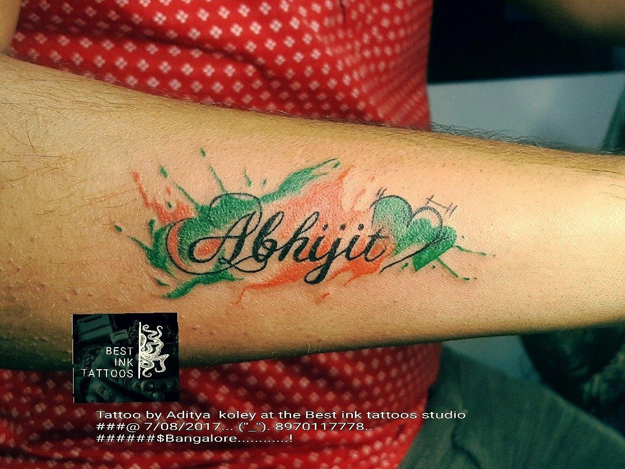 Name tattoo artistaditya koley tattoos ink tattoo