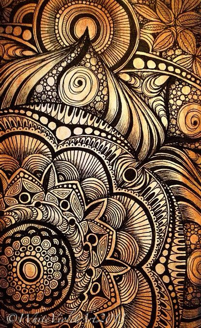 Sunday Afternoon Mandala | Playing around in my sketchbook a… | Flickr