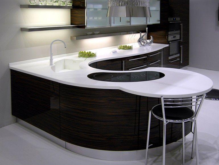 plan de travail vier en pierre acrylique pure acrylic stone legnopan bancada curva. Black Bedroom Furniture Sets. Home Design Ideas