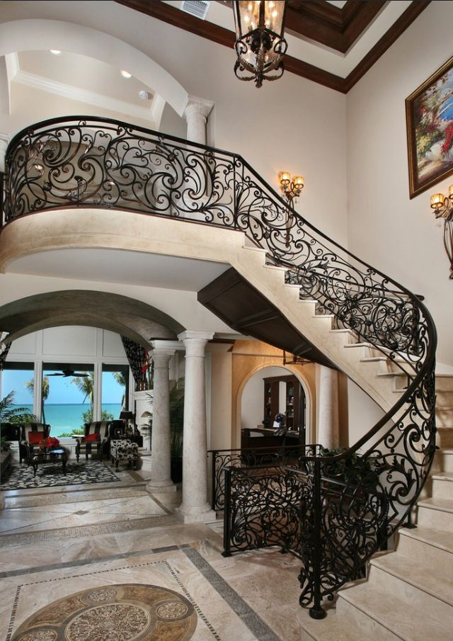 Art nouveau staircase design luxury interiors live the for Luxury staircase