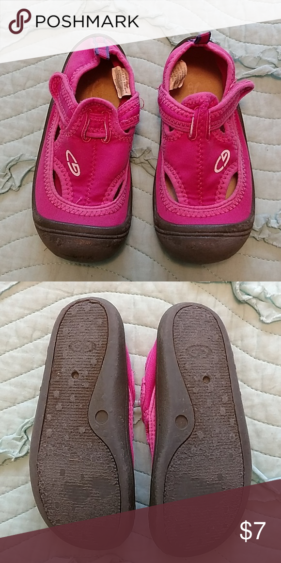 e90bea7a94eb Champion Water Shoes Bright pink water shoes with gray rubber bottoms. Champion  Shoes Water Shoes