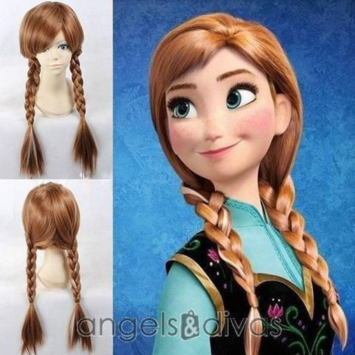 PRINCESS ANNA FROZEN PLAITED WIG ADULT WOMENS COSTUME ACCESSORY