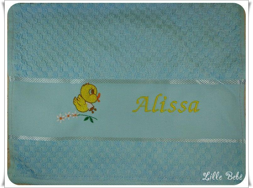 Toalha de lavabo personalizada passarinho