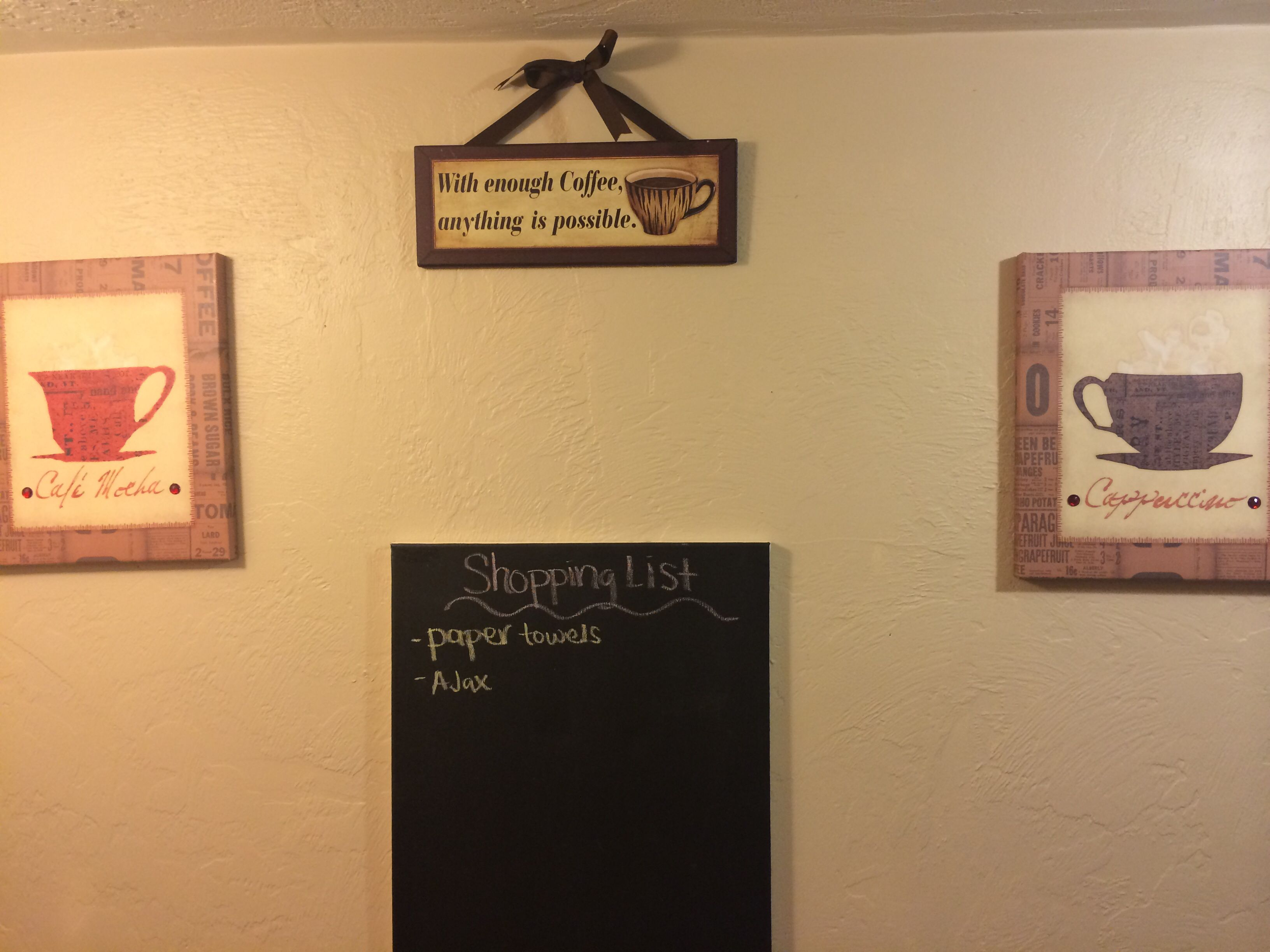 Chalkboard canvas as for things needed/shopping list   Home ideas ...