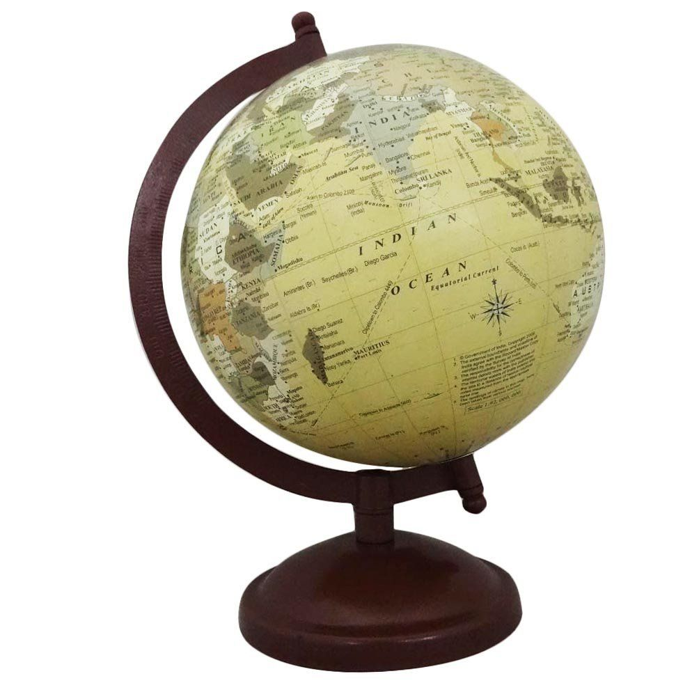 Table top antique world map globes indian vintage style handmade 6 table top antique world map globes indian vintage style handmade 6 plastic ball accessories home gumiabroncs Images