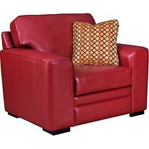 Love the RED LEATHER!   a little red spices it up