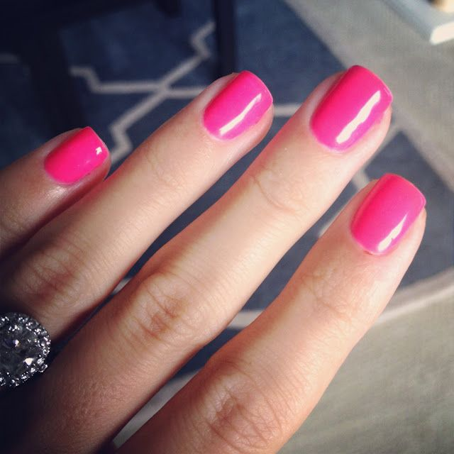 Neon Pink Nails...this will be my next gel manicure. | Nails ...