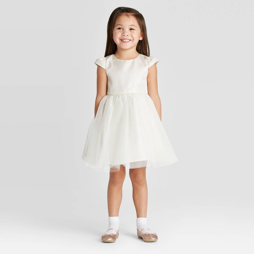 Zenzi Toddler Girls Flower Girl With Shine Puff Sleeve Dress Off White 4t In 2021 Flower Girl Dresses Puff Sleeve Dresses Girls Puff [ 1000 x 1000 Pixel ]