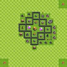 Town Hall 5 Base Design Pro Games Clash Of Clans Base Clash Of