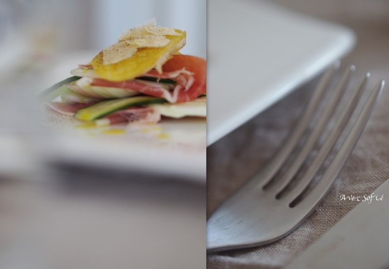 Fennel salad with Serrano Ham