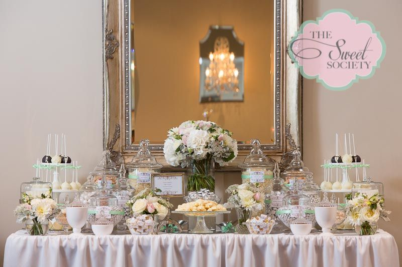 Pin By The Sweet Society On The Sweet Society S Work Wedding Candy Table Wedding Candy Corner Candy Buffet Wedding