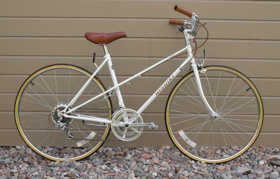 Vintage Nishiki Marina Women S Ladies Mixte Road Bike Bicycle 51cm Lugged Steel Road Bicycle Bikes Bicycle Vintage