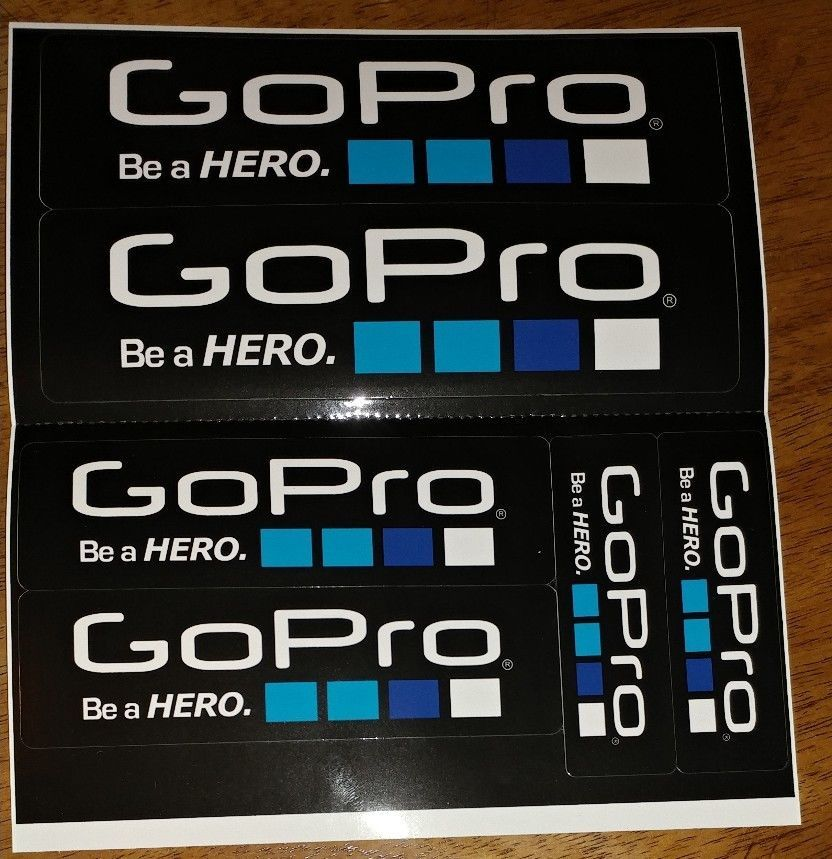 New 6 piece lot gopro hero 4 3 stickers go pro accessories car motorcycle decal gopro