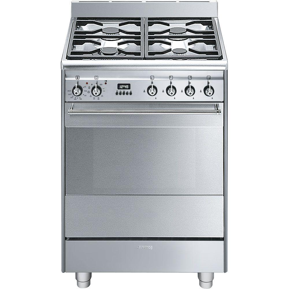 SMEG SUK61PX8 60 cm Dual Fuel Cooker Stainless Steel