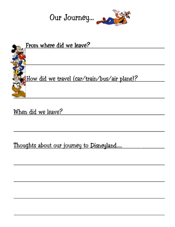 sept 2014 disney vacation itinerary template kids travel journal