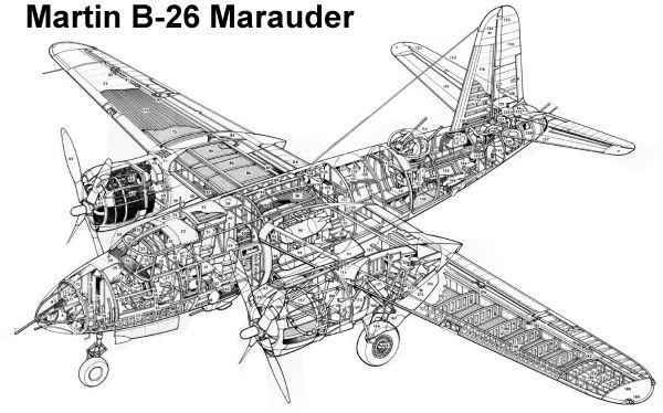 martin b 26 \u0027marauder\u0027 cutaway diagrams and cutaways aircraftmartin b 26 \u0027marauder\u0027 cutaway