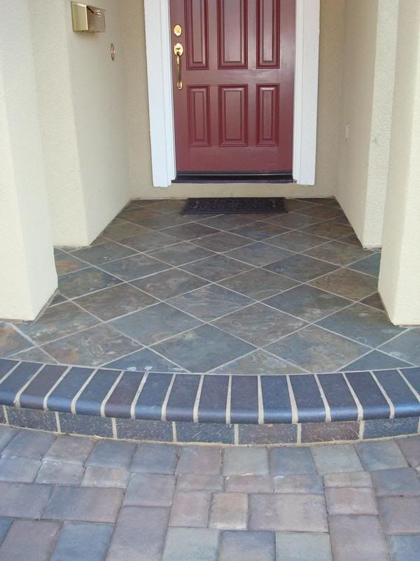 We sealed it after it was in place and so far so good it really gives a much more elegant look - Outdoor tile ideas ...