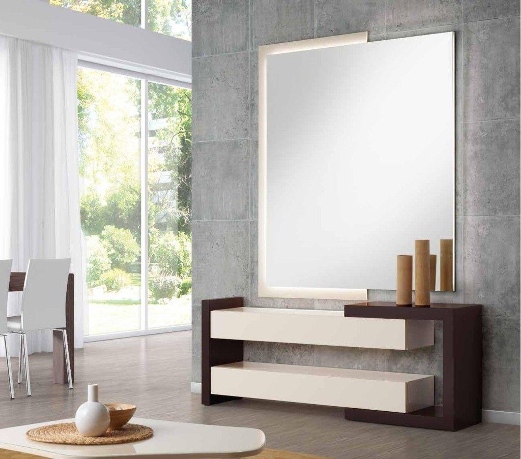 Consolas de madera modernas buscar con google consolas - Mueble recibidor moderno ...