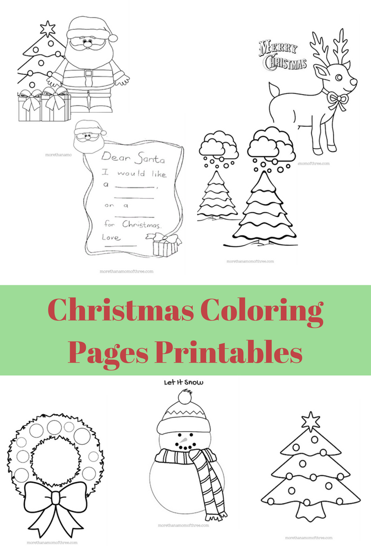 Free kids christmas coloring pages printables christmas colors