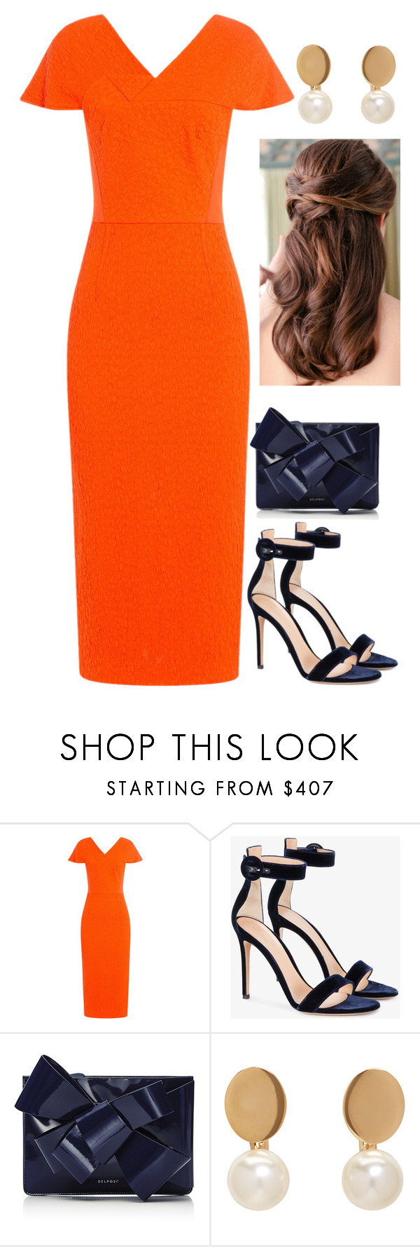 """Untitled #4133"" by injie-anis ❤ liked on Polyvore featuring Roland Mouret, Gianvito Rossi, Delpozo and Chloé"
