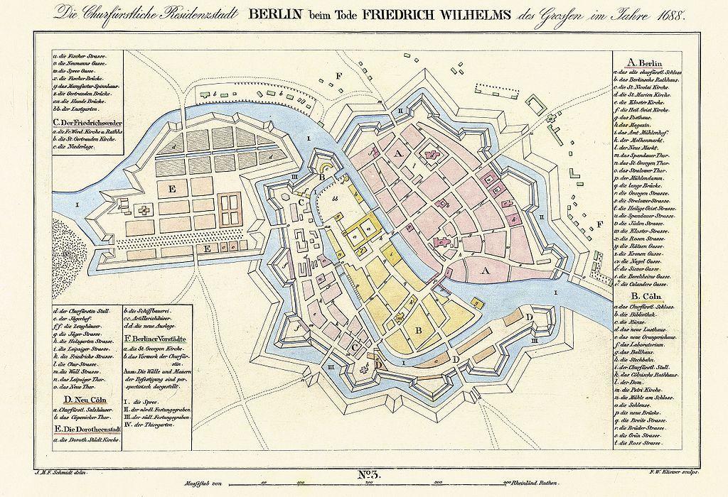 Festung Berlin Wikipedia Stadtplan Nach 1688 Dorotheenstadt So Nicht Befestigt Berlin Geschichte Berlin Und Kartographie