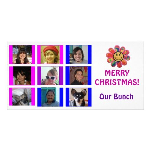 Brady Bunch Style Grid Birthday Christmas Card Zazzle Com Holiday Design Card Mother Christmas Gifts Christmas Cards